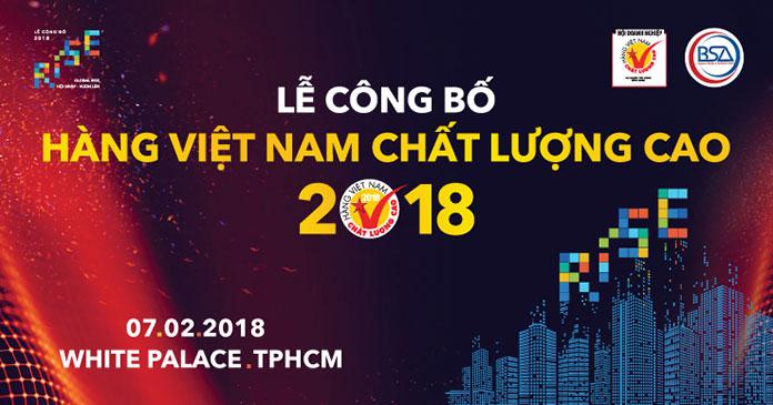Lễ công bố Doanh nghiệp Hàng Việt Nam Chất Lượng Cao 2018