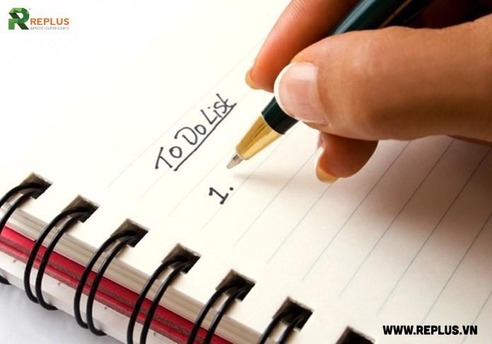 bí quyết thành công nhờ liệt kê những việc sẽ làm